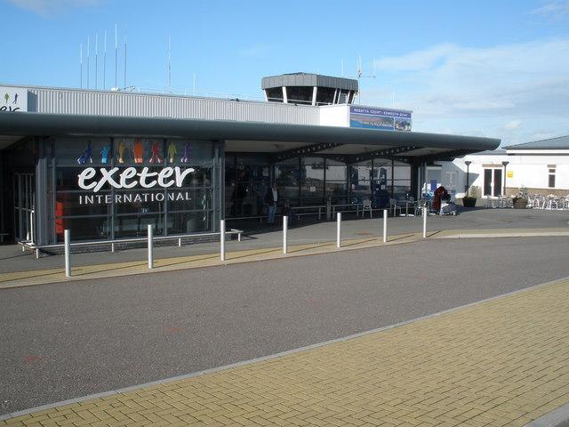 Exeter International airport departure terminal
