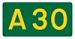 A30 road sign