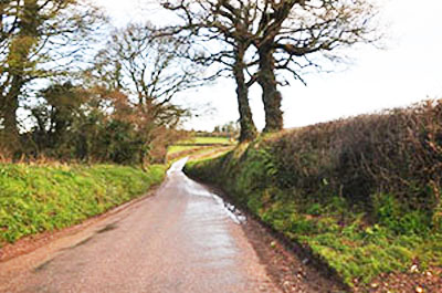 "A wintry Devon Road1"" hspace="