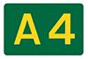 A4 road sign