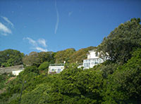 "Above the beach amid the trees Isle of Wight"" hspace="