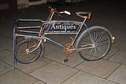 Antique delivery bike hspace=