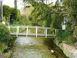"The River Bourne in the lovely village of St Marybourne"" hspace="