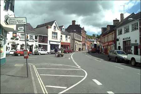 Bovey Tracey Square where the market is held