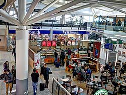 Inside Bristol Airport