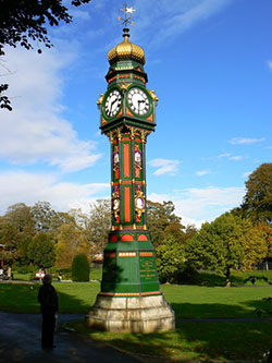 "Clock Tower in the Borough Gardens Dorchester"" hspace="