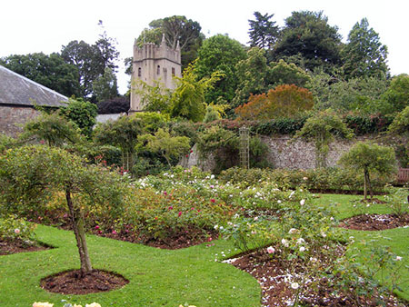 "The Rose Garden and Church of St George and St Mary,  "" hspace="