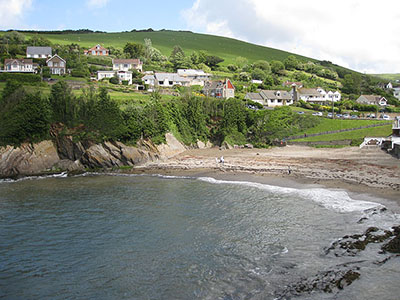 "Beach at Combe Martin"" hspace="