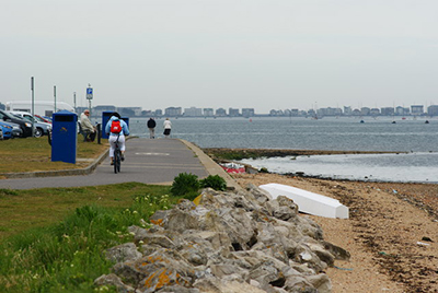 "Cycle route round Parkstone Bay"" hspace="