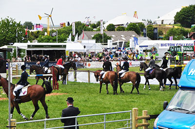 "Horses at the Devon County Show"" hspace="