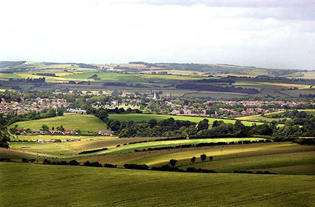"View over Dorchester from the Ridgeway"" hspace="