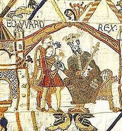 Edward the Confessor depicted on the Bayeux Tapestry