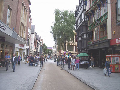 "High Street Exeter – the ancient and the modern "" hspace=""10"