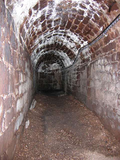 "One of the medieval tunnels that brought water to Exeter and can now be explored"" hspace=""10"