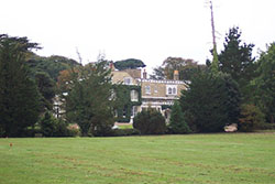 """Farringford, now a hotel but was at one time the home of Alfred Lord Tennyson, the poet."""" hspace="""