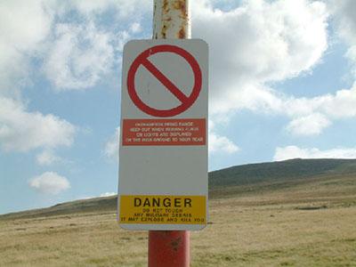 """Firing Range warning sign"""" hspace="""