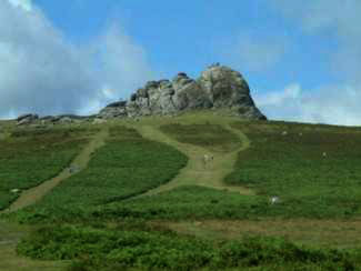 The climb up to Haytor