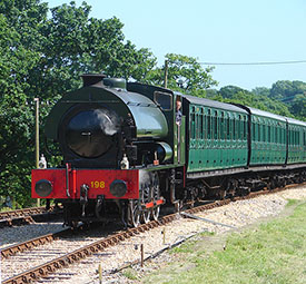 "One of the trains used by the Isle of Wight Steam Railway"" hspace="