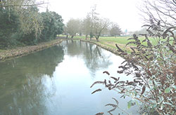 "The River Itchen at St Cross"" hspace="