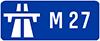 M27 road sign