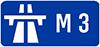 M3 road sign