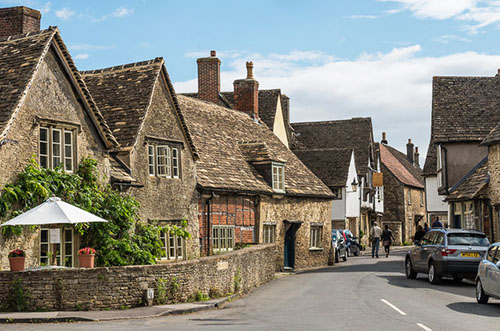"Medieval buildings in Lacock"" hspace="