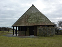 "Replica Round House, Butser Hill"" hspace="