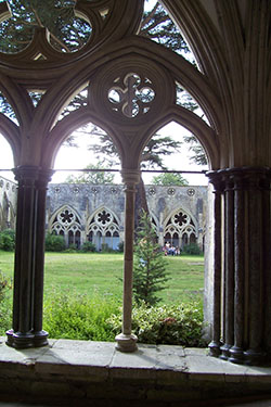 View from a window in Salisbury Cathedral