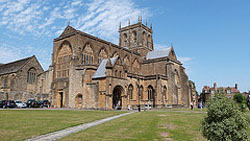 "Sherborne Abbey"" hspace="