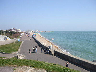 "The beach at Southsea"" hspace="
