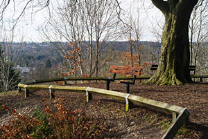 A seat on a winters day, St Giles Hill Winchester