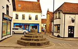 "The Market Cross at Sturminster Newton"" hspace="