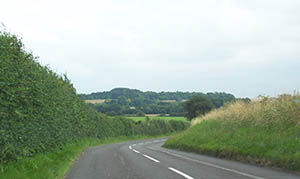 The road from Hurstbourne Priors to Longparish