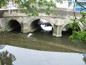 The Town Bridge in Trowbridge