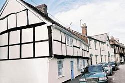 "Tudor Cottages, Romsey"" hspace="
