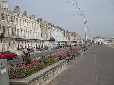 Hotels on the front at Weymouth