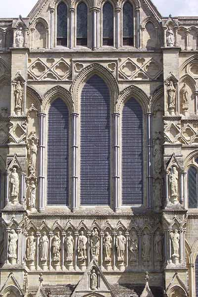 Detail of the carving on  Salisbury Cathedral
