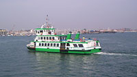 "A ferry off to Gosport in Portsmouth Harbour"" hspace="