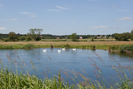 "View of the River Avon from Avon Valley Path"" hspace="