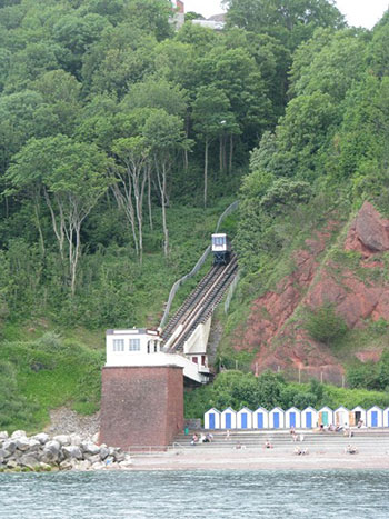 """The Cliff Railway at Babbacombe"""" hspace="""