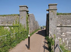 """The fort on Berry Head"""" hspace="""