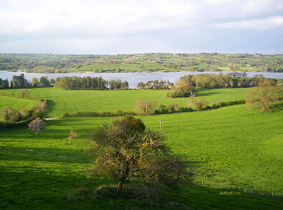 Blagdon Lake amongst the green hills of Somerset