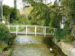 """The River Bourne in the lovely village of St Marybourne"""" hspace="""