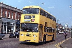 Bournemouth bus in Wimbourne Road