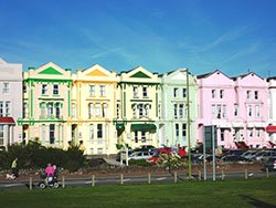 """Cheerful accommodation on Paignton sea front"""" hspace="""