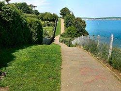 Coastal footpath Shanklin to Sandown