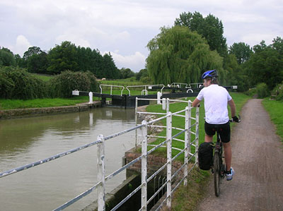 "Cyclist by the Kennet and Avon Canal"" hspace="