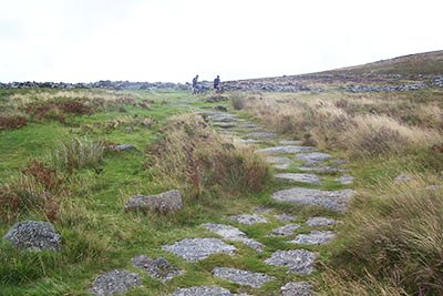Two cyclists on the wilds of Darmoor