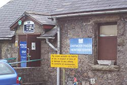 The entrance to Dartmoor Prison Heritage Centre