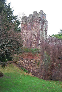 "Exeter Castle Tower"" hspace="
